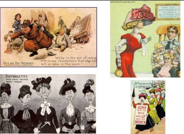 caricaturas sufragistas